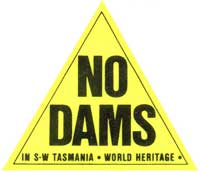 No_Dams_In_SW_Tasmania_World_Heritage_Triangle_Sticker
