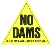 No_Dams_In_SW_Tasmania_World_Heritage_Triangle_Sticker