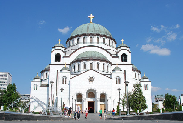The Cathedral of Saint Sava is an Orthodox church in Belgrade, the capital of Serbia, the largest in the world. The church is dedicated to Saint Sava, founder of the Serbian Orthodox Church and an important figure in medieval Serbia. It is built on the Vracar plateau, on the location where his remains are thought to have been burned in 1595 by the Ottoman Empire's Sinan Pasha. From its location, it dominates Belgrade's cityscape, and is perhaps the most monumental building in the city. The building of the church structure is being financed exclusively by donations. The parish home is nearby, as will be the planned patriarchal building. http://en.wikipedia.org/wiki/Cathedral_of_Saint_Sava http://www.hramsvetogsave.com http://en.wikipedia.org/wiki/Saint_Sava