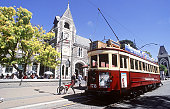 Tram at Christchurch Arts Centre, New Zealand