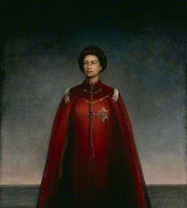 by Pietro Annigoni, oil on panel, 1969